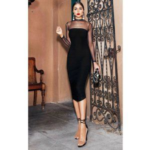 PrettyLittleThing x Olivia Culpo Mesh Midi Dress